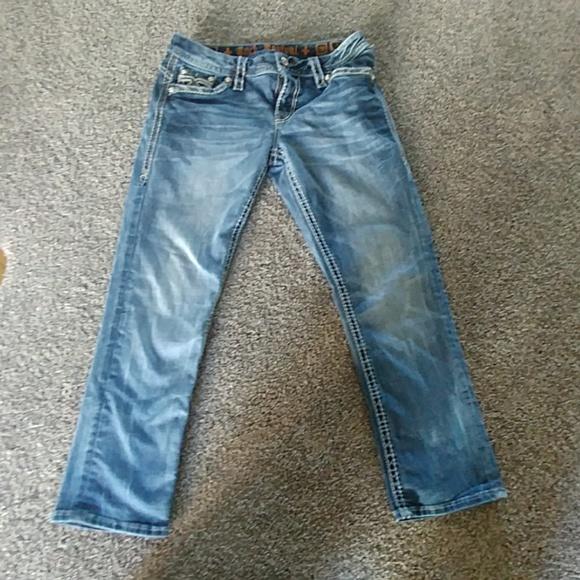 Rock Revival Denim - Rock Rival Crop Jeans